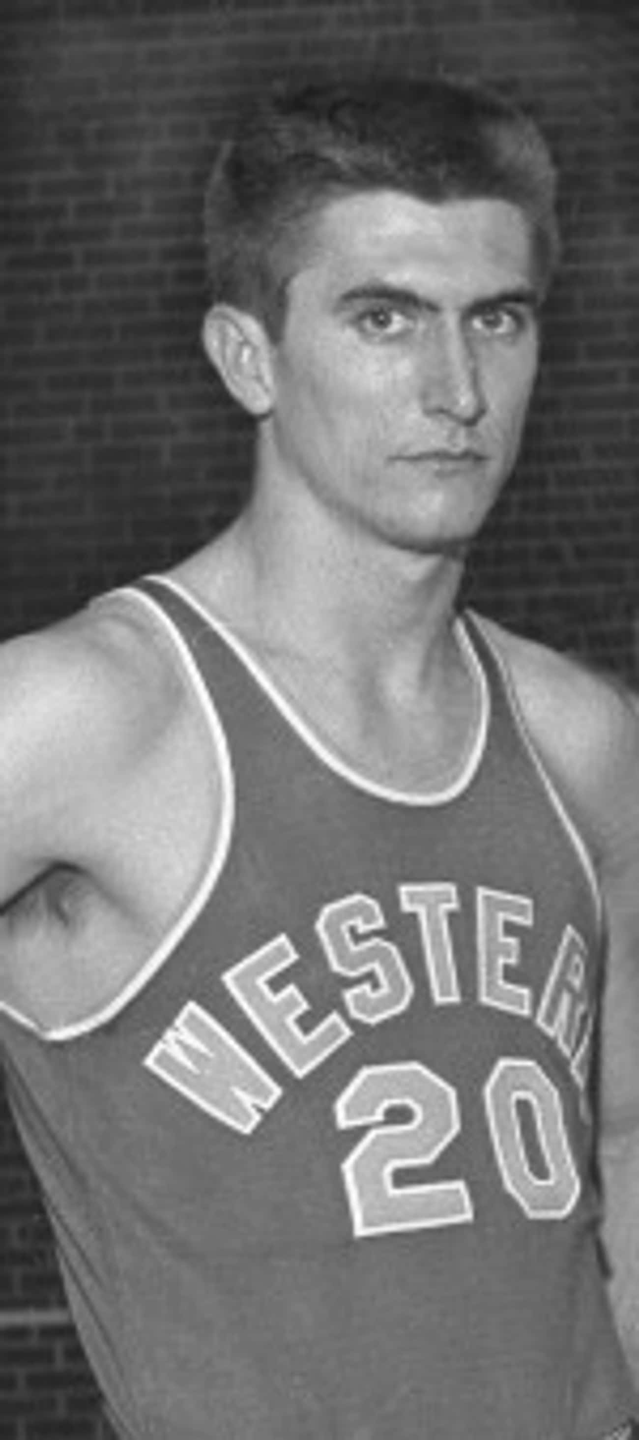 Young Mel Gibson in High School Basketball Jersey