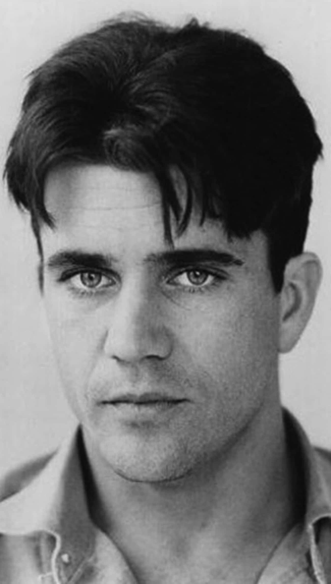 Young Mel Gibson in Buttondown Closeup Black and White