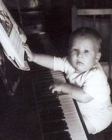Young Jeff Bridges Playing the Piano