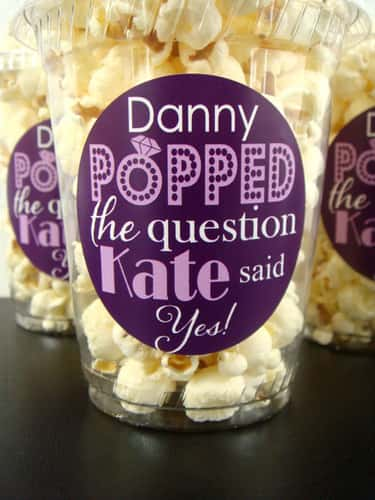 Hand Out Popcorn Favors! is listed (or ranked) 1 on the list Engagement Party Ideas You'll Fall in Love With