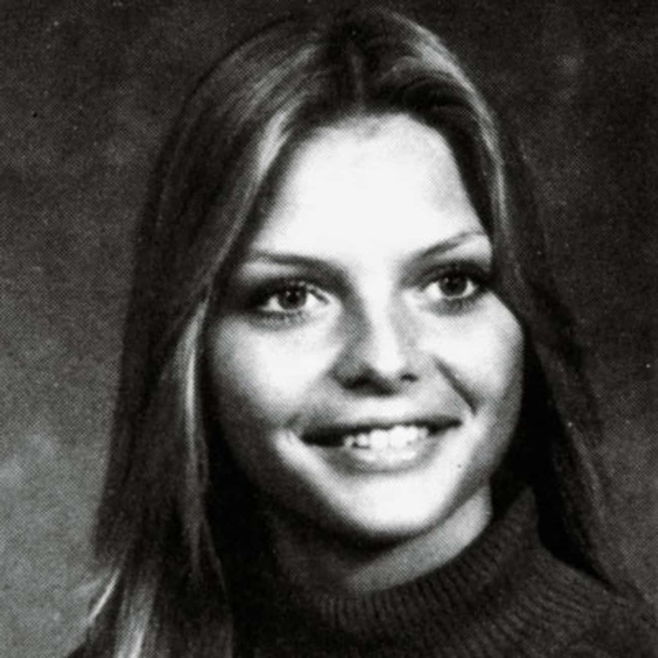 Young Michelle Pfeiffer in a Gray Sweater