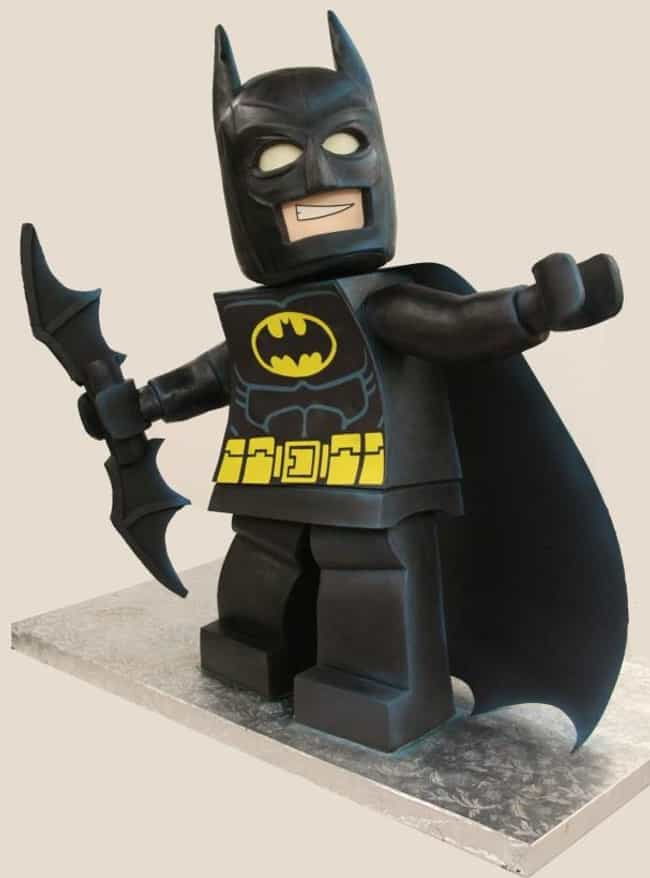 Lego Movie Batman Cake is listed (or ranked) 1 on the list 30 Awesome TV and Movie Themed Desserts