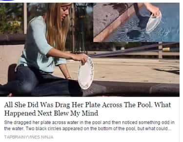 Crazy! She Dragged a Plate?!