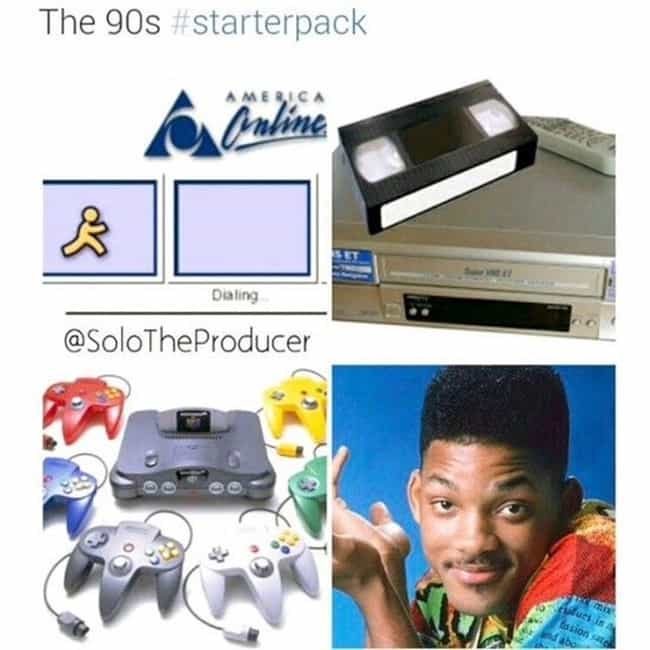 For The 90's Throwback Kid is listed (or ranked) 4 on the list The Best Of The Starter Packs Meme