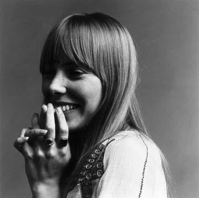 All smiles is listed (or ranked) 4 on the list The Most Stunning Joni Mitchell Pictures