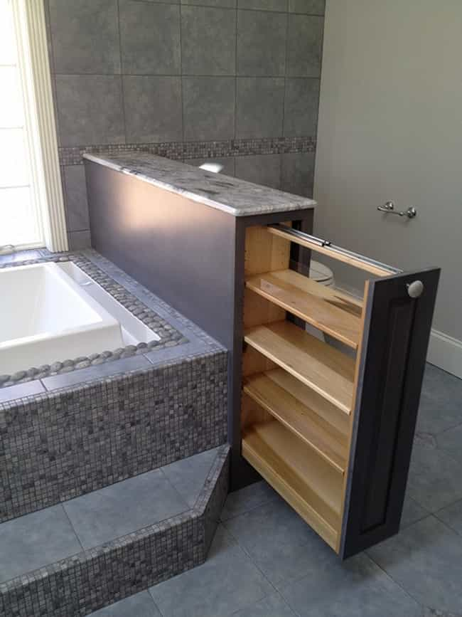 Add Secret Storage Spaces is listed (or ranked) 1 on the list Bathroom Design Ideas for a Gorgeous Remodel