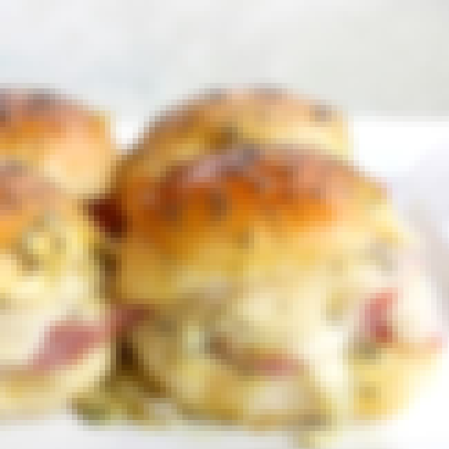 Ham and Cheese Sliders is listed (or ranked) 3 on the list 35 Drool-Worthy Recipes for Your Next Dinner Party