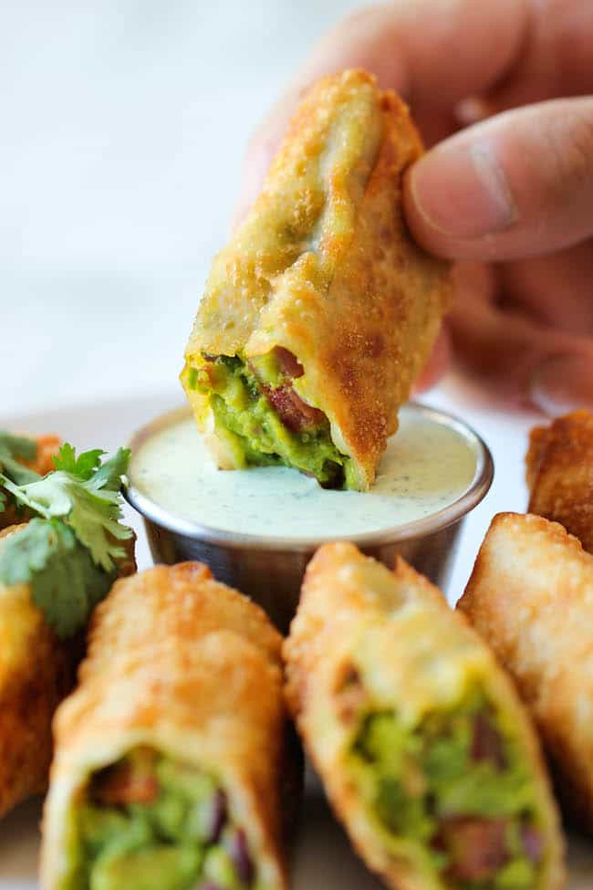 Party food recipes easy dinner party appetizers and desserts cheesecake factory avocado egg rolls forumfinder Gallery