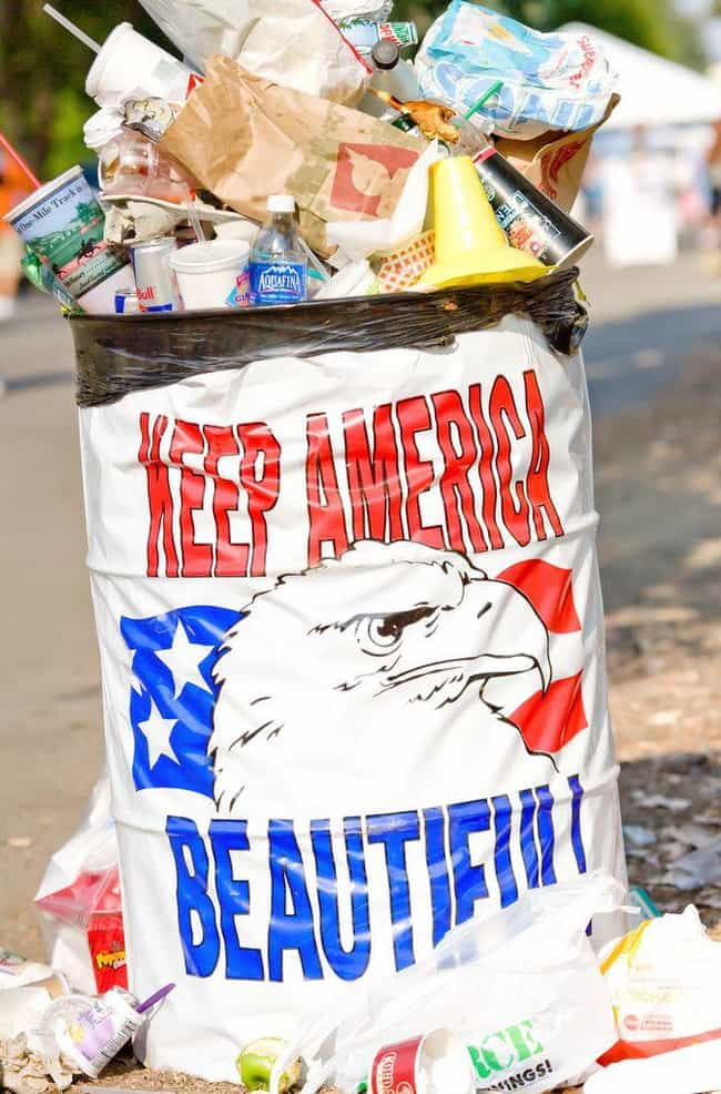 Throw It Away In The Trash is listed (or ranked) 4 on the list Things You Aren't Supposed to Do with the American Flag
