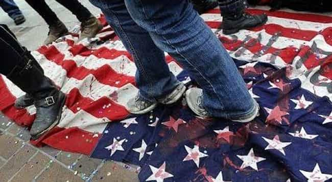 Step On It is listed (or ranked) 4 on the list Things You Aren't Supposed to Do with the American Flag