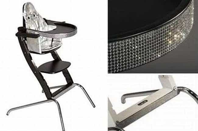 Swarovski High Chair is listed (or ranked) 4 on the list The 25 Most Over-the-Top Expensive Baby Products