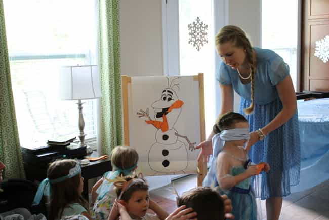 Pin the Carrot Nose on Olaf is listed (or ranked) 3 on the list Awesome Birthday Party Theme Ideas & How to Throw Them