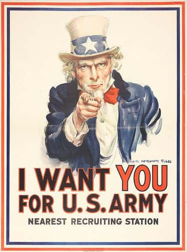 Uncle Sam Wants YOU is listed (or ranked) 1 on the list World War II Propaganda Posters, Explained