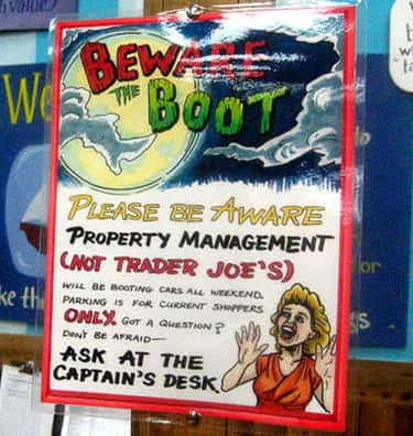 The Best 'Sorry Our Neighb is listed (or ranked) 2 on the list The Best Trader Joe's Signs