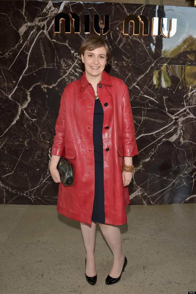 This Tarp with Buttons is listed (or ranked) 3 on the list Lena Dunham's 35 Most Courageous Fashion Efforts, Ranked