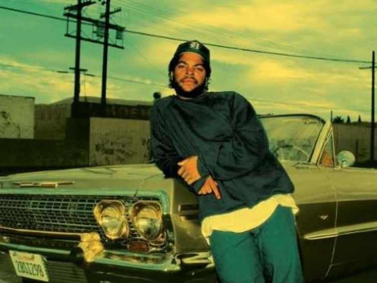 Young Ice Cube in Black Jacket and Blue Jeans