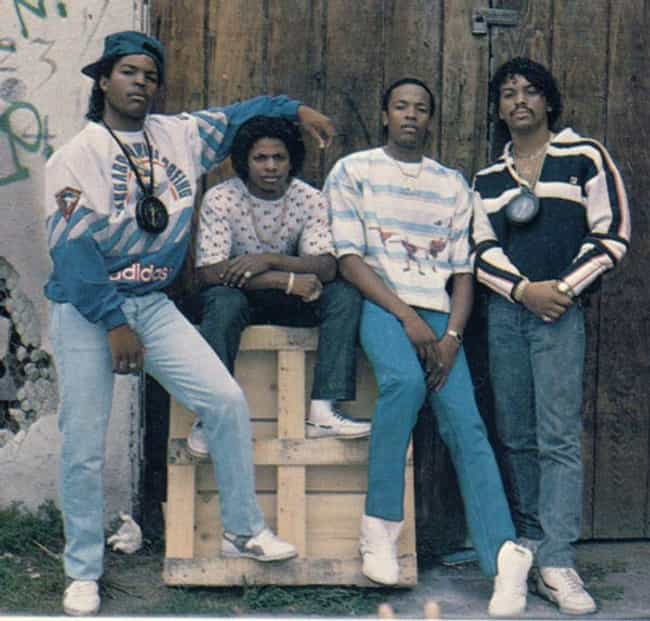 Young Ice Cube with N.W.A. is listed (or ranked) 1 on the list 14 Pictures of Young Ice Cube From His Gangsta Days