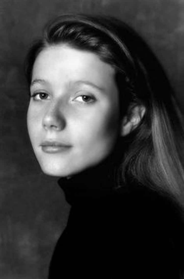 Young Gwyneth Paltrow in Black Turtleneck