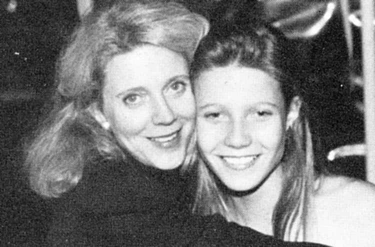Young Gwyneth Paltrow Posing with Mother