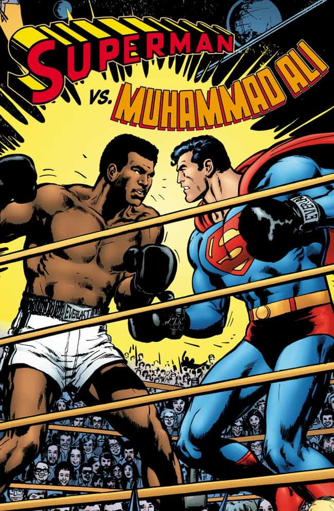 Muhammad Ali Fights Superman is listed (or ranked) 1 on the list 20 Times Superheroes Have Met Real People