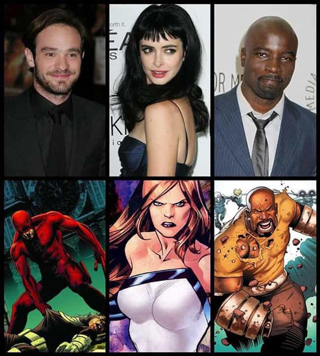 All of the Actors Cast in Dare... is listed (or ranked) 3 on the list 22 Things You Should Know About Netflix's The Defenders