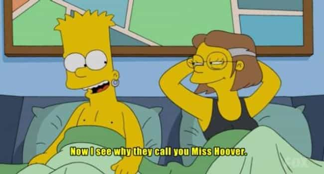Because Hoover is Also a Vacuu... is listed (or ranked) 2 on the list The 28 Dirtiest Simpsons Jokes in the History of the Series