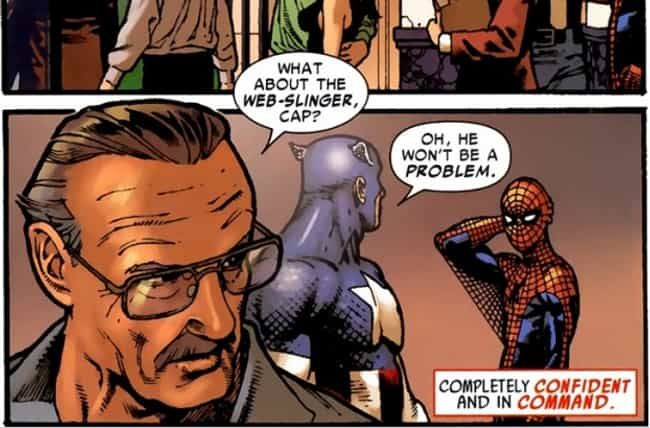 Stan Lee Meets Captain America... is listed (or ranked) 2 on the list 20 Times Superheroes Have Met Real People