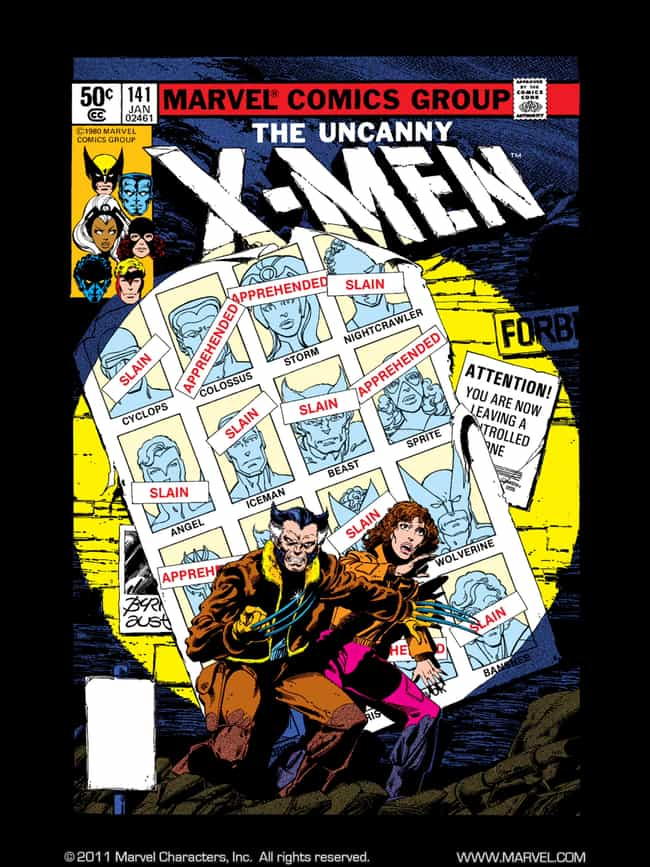 Days of Future Past is listed (or ranked) 2 on the list The Best X-Men Comic Storylines, Ranked