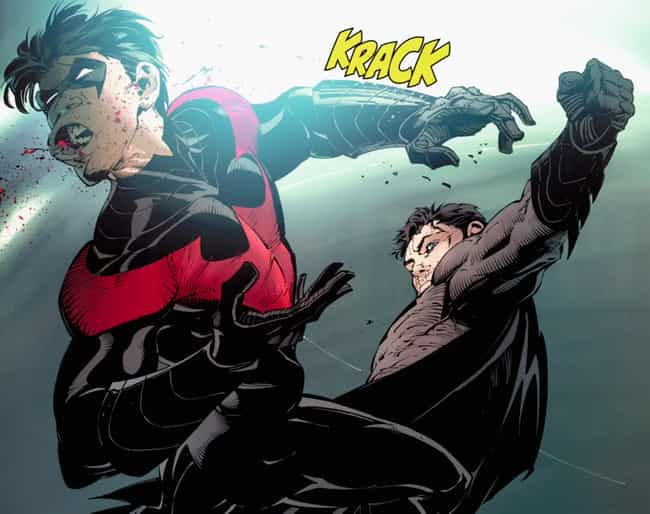 That Time He Knocked Nightwing... is listed (or ranked) 3 on the list 25 Times Batman Was A Major Dick In Comics