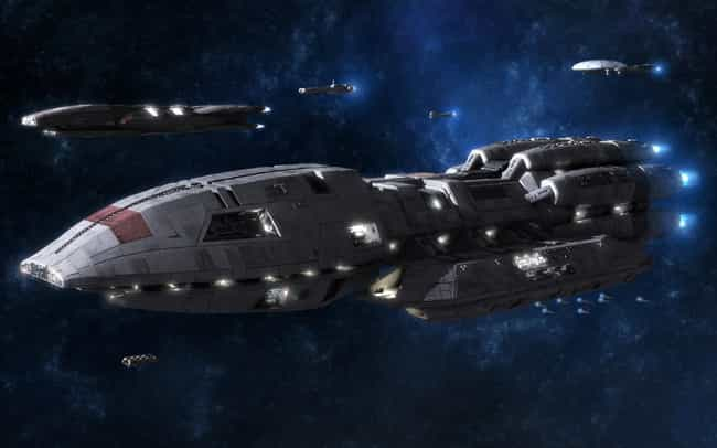 Battlestar Galactica is listed (or ranked) 3 on the list The Most Popular Science Fiction Capital Warships