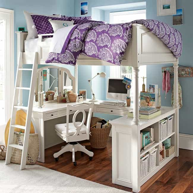 Create a Homework Space Under ... is listed (or ranked) 3 on the list Awesome Bedroom Design Ideas for Your Home