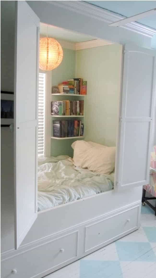 Build a Bed Nook is listed (or ranked) 4 on the list Awesome Bedroom Design Ideas for Your Home