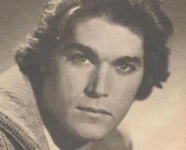 Young Ray Liotta in Sweater Black and White Closeup