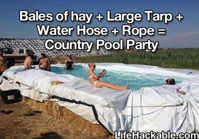 You've Ever Thrown a Pool ... is listed (or ranked) 1 on the list You Might Be a Redneck If...