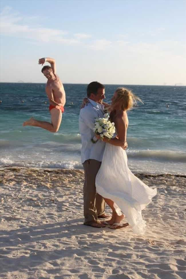 The Dangers of a Seaside Cerem... is listed (or ranked) 4 on the list 20 Wedding Photos Gone Wrong