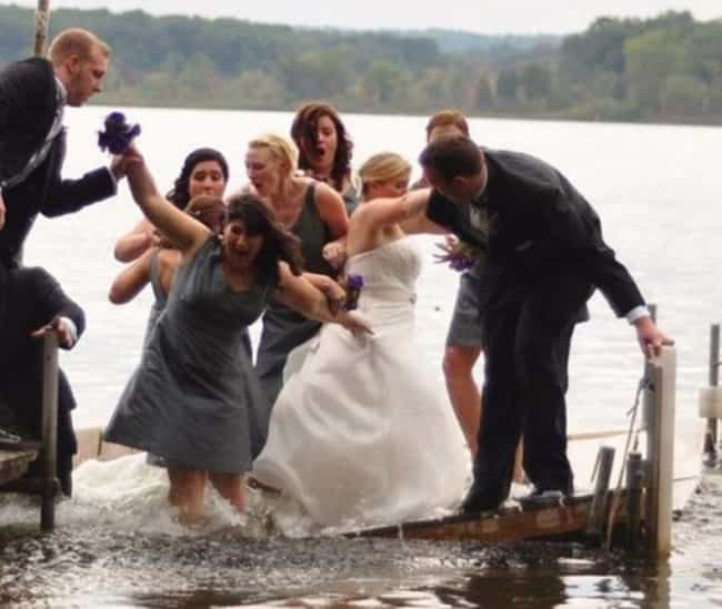 The Moment They Realized... is listed (or ranked) 2 on the list 20 Wedding Photos Gone Wrong