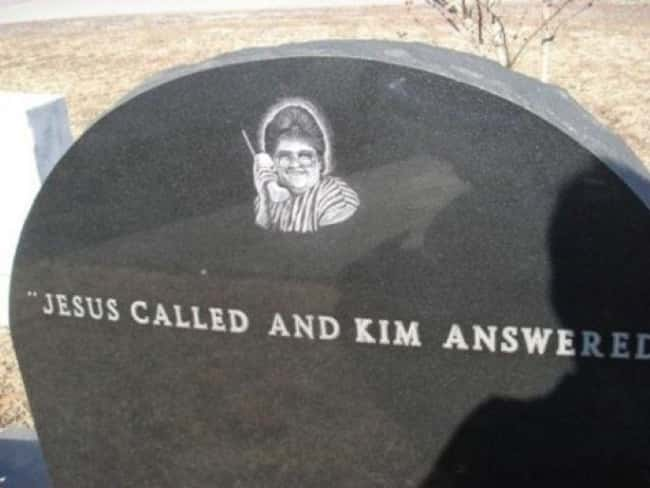 She Should Have Let It Go to V is listed (or ranked) 8 on the list 13 Tombstones of People Who Died Laughing