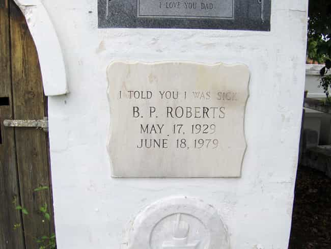 No One Ever Believes Me!... is listed (or ranked) 2 on the list 13 Tombstones of People Who Died Laughing