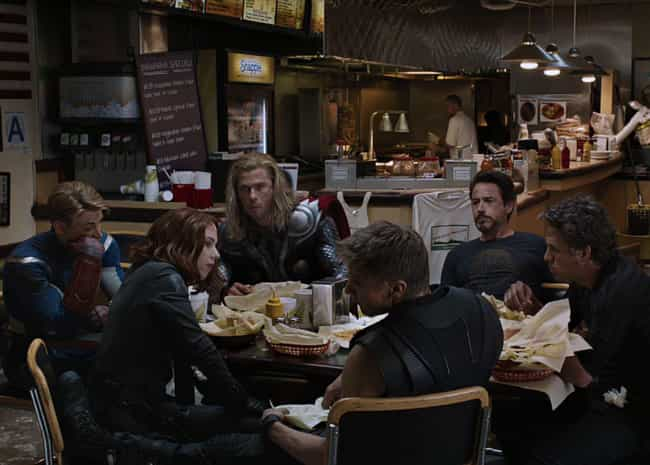 The Shawarma Post-Credits Scen... is listed (or ranked) 1 on the list 28 Fun Facts & Trivia About Marvel's 'Avengers'