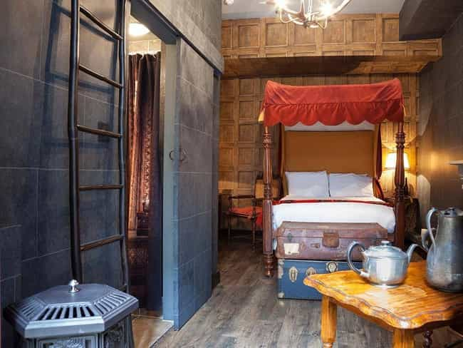 Harry Potter Fans Can Stay in ... is listed (or ranked) 3 on the list The Geekiest Themed Hotels Of All Time