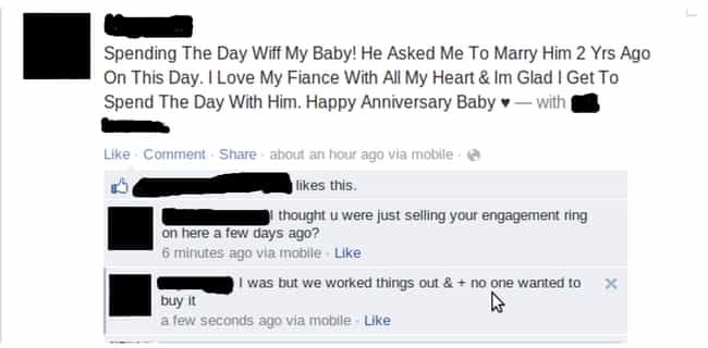 Guess It Was a Sign? is listed (or ranked) 3 on the list The Worst Facebook PDA Posts