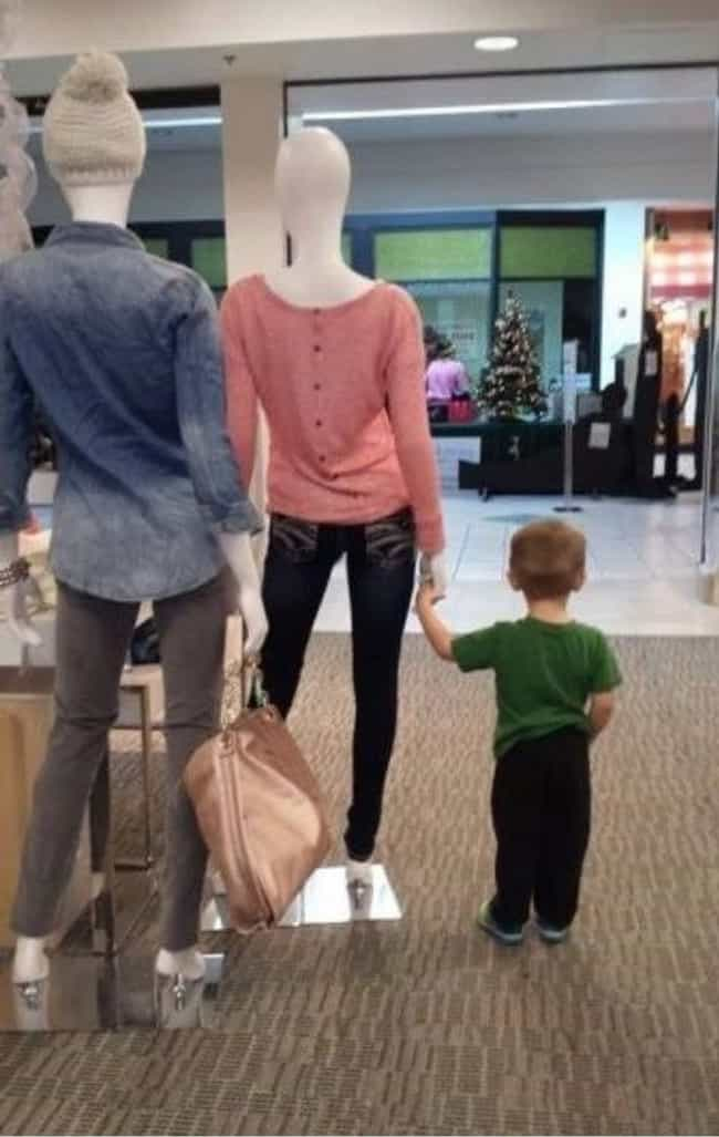 A Super Stylish Babysitter is listed (or ranked) 2 on the list The Worst Parents in Department Stores