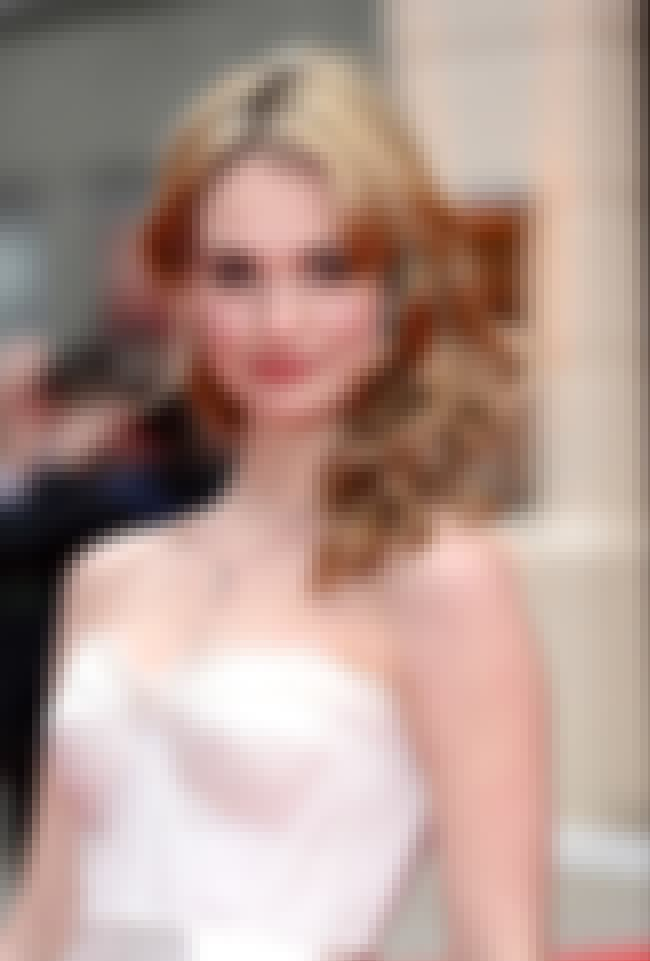Lily James in White Strapless ... is listed (or ranked) 2 on the list The Hottest Lily James Photos