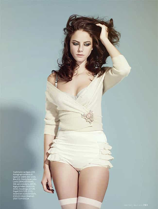 Kaya Scodelario in Cream Top a... is listed (or ranked) 1