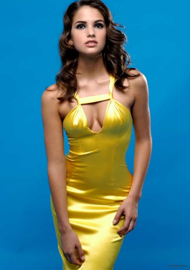 Shelley Hennig in Yellow Dress is listed (or ranked) 2 on the list The Hottest Shelley Hennig Photos