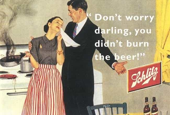 Well, as Long as the Bee... is listed (or ranked) 3 on the list 33 Truly Weird Vintage Alcohol Ads