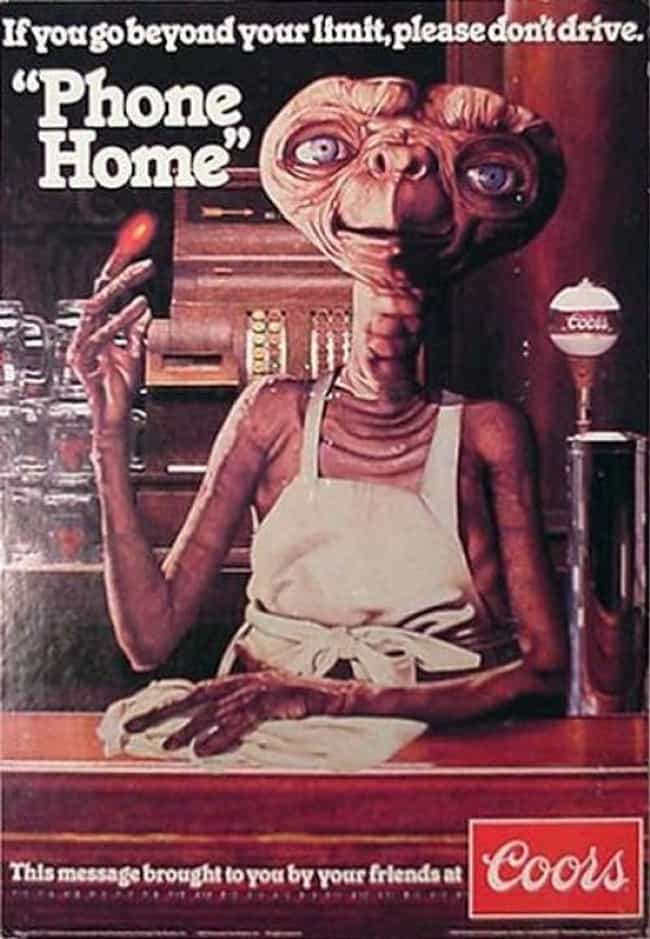 E.T. Wants You to Phone ... is listed (or ranked) 4 on the list 33 Truly Weird Vintage Alcohol Ads