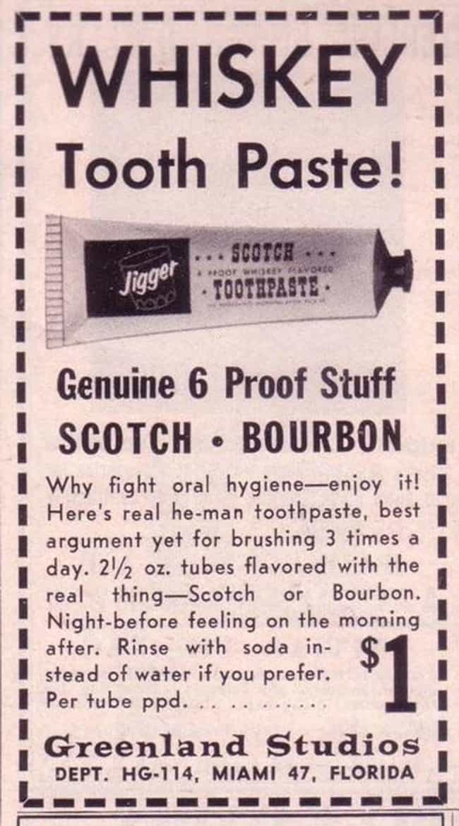 When You Want Booze Brea... is listed (or ranked) 1 on the list 33 Truly Weird Vintage Alcohol Ads