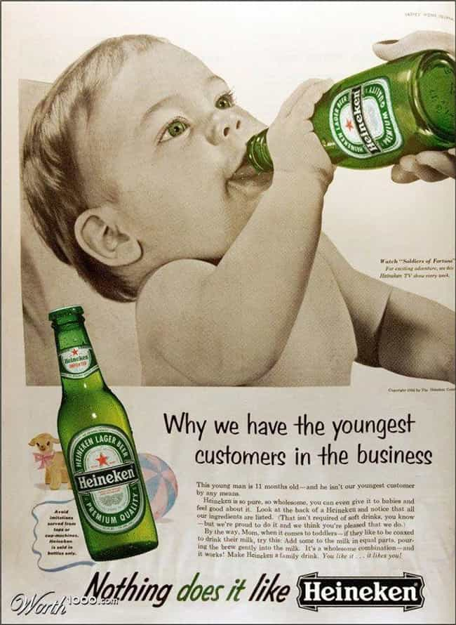 Who Needs Formula When T... is listed (or ranked) 2 on the list 33 Truly Weird Vintage Alcohol Ads