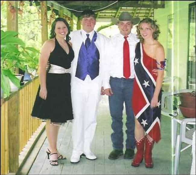 3...2....No. is listed (or ranked) 4 on the list The Trashiest Formal Photos Ever Taken